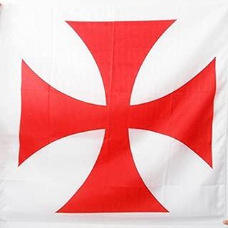 AZ FLAG Templar Order Flag 3' x 3' for a Pole - Catholic Flags 90 x 90 cm - Banner 3x3 ft with Hole