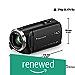 (Renewed) Panasonic HC-V270 Super Zoom Full HD Camcorder, Black