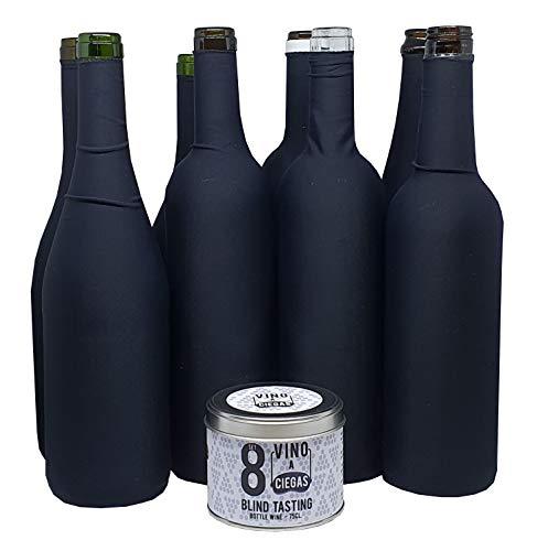 Vino a Ciegas Set 8 Verkostung Blindverkostung Socke - Metalldose - Blinde Weinproben