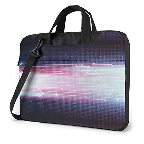 15.6 inch Laptop Shoulder Briefcase Messenger Violet Speed Technology Line Circuit Board Tablet Bussiness Carrying Handbag Case Sleeve