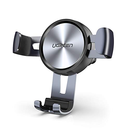 UGREEN Soporte Móvil Coche Gravedad, Sujeta Movil Coche Soporte Porta Teléfono para Rejillas Car Holder para iPhone 12 11 Pro MAX XS,Huawei P40, Xiaomi Mi10 Mi9T Redmi Note 8, Samsung S20 Note 10 S9