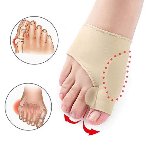 Artículos deportivos para el hogar Accesorios para juanetes Férulas Plancha para el dedo gordo del pie 2 pares Corrector de juanetes Protectores de soporte Funda con almohadilla de gel de silicona