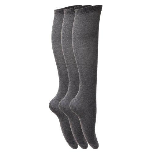 Severyn Calcetines lisos largos hasta rodilla uniforme
