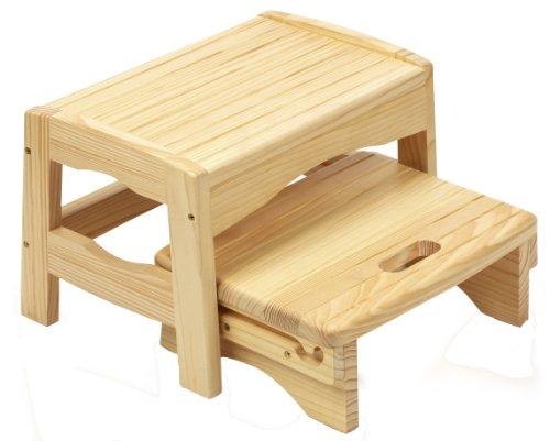 Safety 1st, Hocker mit 2 Tritten, Holz, naturbelassen