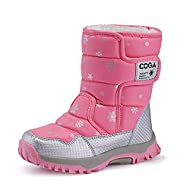 Girls Boys Toddler/Little Kid/Big Kid Winter Snow Boots Warm Waterproof Anti-Slip Anti-Collision Hight-Cut for Outdoor Skiing