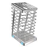 HAMILO キッチンナイフホルダー ナイフスタンド 多機能収納ボックス キッチン用品 (シルバー)