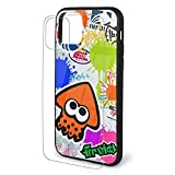 Spla-toon iPhone 11 Case Cover, Creativity TPU Soft Silicone + Tempered Glass Shell for iPhone 11/pro/pro Max