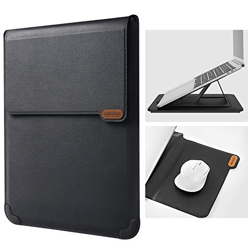 Nillkin 13 inch Laptop Sleeve Case Laptop Stand Adjustable, Computer Shock Resistant Bag with Mouse Pad for 13' MacBook Pro and MacBook Air, XPS 13, Surface Book 13.5', 12.9' New iPad Pro, Black