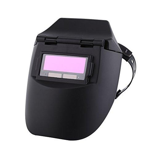 Casco de soldadura, Akozon Casco de soldadura con oscurecimiento automático Pro Solar Casco de ajuste montado en la cabeza Equipo de protección para soldador de pulido de máscara Tig DIN: 11