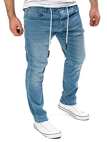 Yazubi Hombre Pantalón De Deporte Erik - Vaqueros Slim Fit, Azul (Estate Blue 194027), W34/L32