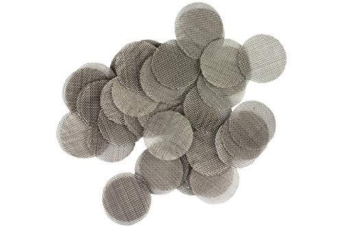 Weedness Bong-Siebe 10 mm Ø - 100 Stück Stahlsiebe Bong Sieb Chillum Sieb Pfeifensieb Einlegesieb Metallsieb Bong Kopf Sieb Bong Zubehör
