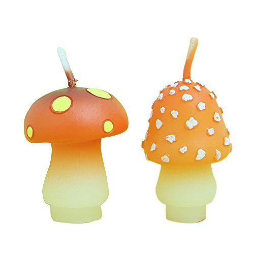 Birthday Candles Mushroom Candles for Party Supplies and Wedding Favor