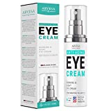 Premium Eye Cream Serum For Dark Circles and Puffiness - with Hyaluronic Acid - Vitamin C + E - Anti Aging Complex to Reduce Eye Bags - Wrinkles - Fine Lines - Puffiness - for Women & Men - Made in US