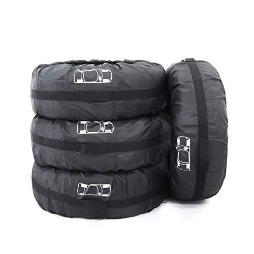 ZIHAN Feil Store 4 unids/Lote Caja de Recambio de neumáticos Caja de neumáticos Poliéster Auto Rueda Neumáticos Bolsas de Almacenamiento Accesorios de neumáticos Vehículo Protector a Prueba de Polvo