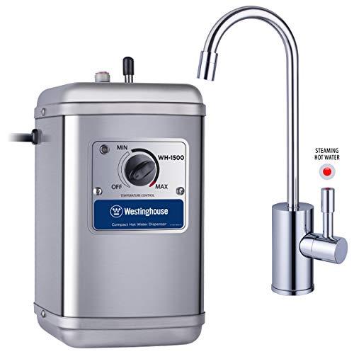 Westinghouse Dispensador de agua caliente instantáneo, incluye llave chapado en crom