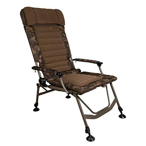 Fox Super Deluxe Recliner Highback Chair Angelstuhl zum Karpfenfischen, Stuhl für Karpfenangler, Karpfenstuhl zum Ansitzangeln