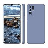 ORDA Huawei P30 Pro New Edition Hülle Silikon Hülle, Hanyhülle Huawei P30 Pro Hülle Ultra Dünn mit Microfiber, Kameraschutz & Displayschutz, Kratzfeste Hülle für Huawei P30 Pro Blau Grau