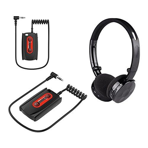 Deteknix W3 Kabelloser Metalldetektor-Kopfhörer Funkkopfhörer Kopfhörer mit Sender