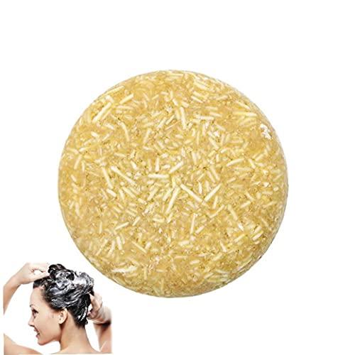 1pc Natural Shampoo Bar Hecho a Mano Champú Jabón con La Planta De Aceites Esenciales Jabón Orgánico Bar Gentle Care por Profundamente Hidratada Pelo (Miel)