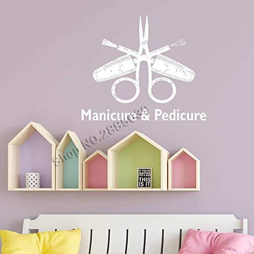 Manucure & Amp; Pédicure Signe Stickers Fenêtre Nail Salon Stickers Muraux Vinyle Ongles Boutique Art Papiers Peints Salon De Beauté Décor Xs 36Cm X 3