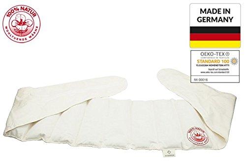 8 Kammern Wärmegürtel RAPS Natur XXL Körnerkissen Wärmekissen Groß NATUR Nackenkissen Bauchkissen Rückenkissen Kissen XXL Made in GERMANY und Öko-Tex 100 Zertifikat