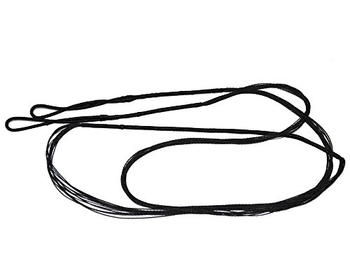 """I-sport 54"""" Hunting Archery Braided Replacement Bowstring - 12 Strand for Traditional Recurve Bow Longbow Black Color"""