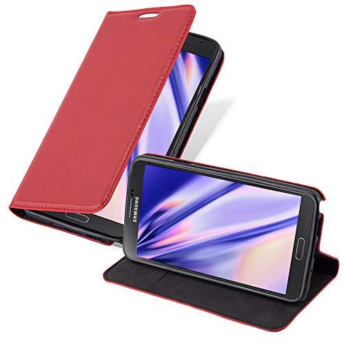 Cadorabo Hülle für Samsung Galaxy Note 3 NEO - Hülle in Apfel ROT – Handyhülle mit Magnetverschluss, Standfunktion & Kartenfach - Hülle Cover Schutzhülle Etui Tasche Book Klapp Style