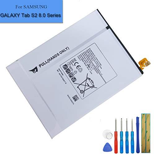 Batterie de Rechange EB-BT710ABE Compatible avec Samsung Galaxy Tab S2 8.0,Galaxy Tab S2 Nook 8.0 LTE-A SM-T710 SM-T715 SM-T715C SM-T715N0 SM-T715Y + Outils