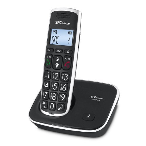 SPC Comfort Kaiser teléfono inalámbrico color negro