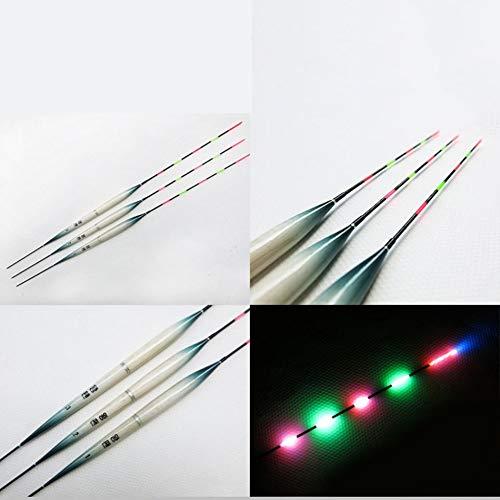 3-types fischköder schwimmende elektrische float licht batterie angeln floating fishing schwimmen rohre (3 teile / satz)