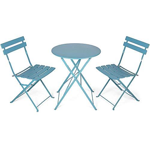 WANG Conjunto de balcón - Mesa y sillas Plegables - Conjunto de...
