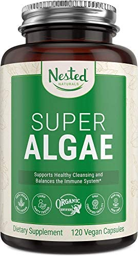 Super Algae Certified Organic Spirulina and Chlorella Vegan Capsules Blue Green Algae Powder product image