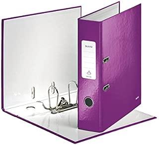 (Purple, 8 cm) - Leitz Lever Arch File, Wow Range, 8 cm Spine Width, 10054062 - A4, Purple
