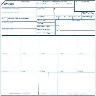 Fingerprint Cards, Applicant FD-258, 25 Pack
