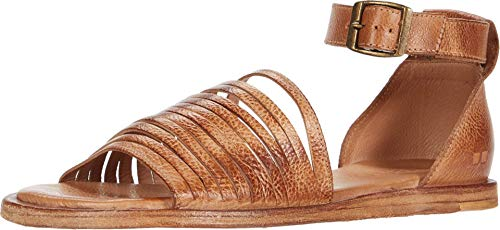 Bed|Stu Women's Lilia Leather Sandal (Tan DD, Size 8.5)