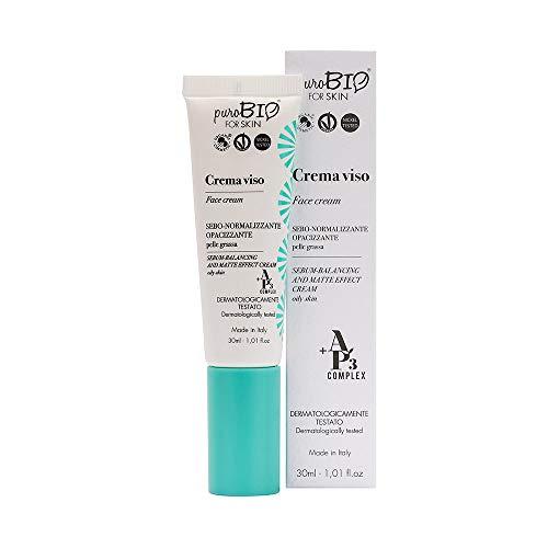 Purobio Crema Viso Sebo-Normalizzante Opacizzante Per Pelle Grassa - 30 Ml