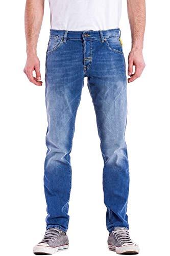Meltin'Pot - Jeans RAF D0163-UD399 per Uomo, Modello Dritto, vestibilità Normale, Vita Regular, con 5 Tasche