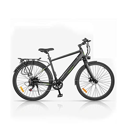 HWOEK Adulto Citt Bicicletta Elettrica, con 350W Motore Potente 27 Pollici Mountain Trekking Bici Elettrica Telaio in Lega di Alluminio 6 velocità velocità Massima 25km/h Tre Opzioni,Nero,B 10.4AH