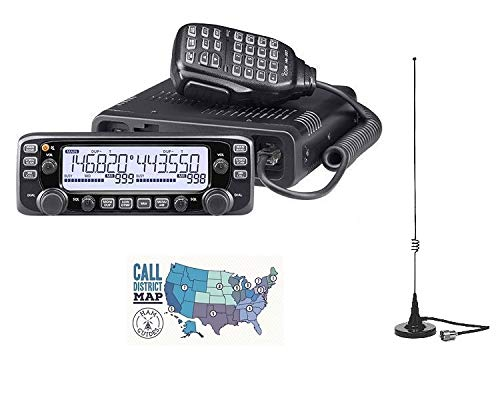 Radio and Accessory Bundle - 3 Items - Includes Icom IC-2730A Dual-Band VHF/UHF 50W Mobile Transceiver, Comet M-24M Mobile Mag-Mount Antenna and Ham Guides TM Quick Reference Card