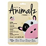 masque BAR Pretty Animalz Cow Facial Sheet Mask (1 Pack) — Korean Beauty Skin Care Treatment —Soothes, Anti-Inflammatory, Soothes, Treats Pores — Spa Party Fun Face Mask Sheets Animal Characters