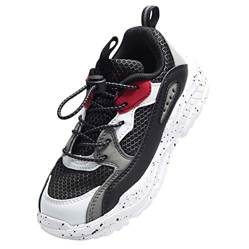 Harvest Land Unisex Kinder Sneakers Tennisschuhe mädchen Hallenschuhe Jungen Schuhe Festliche Leuchtschuhe Wanderschuhe Turnschuhe Sportschuhe für Jungs, Schwarz, 36.5 EU