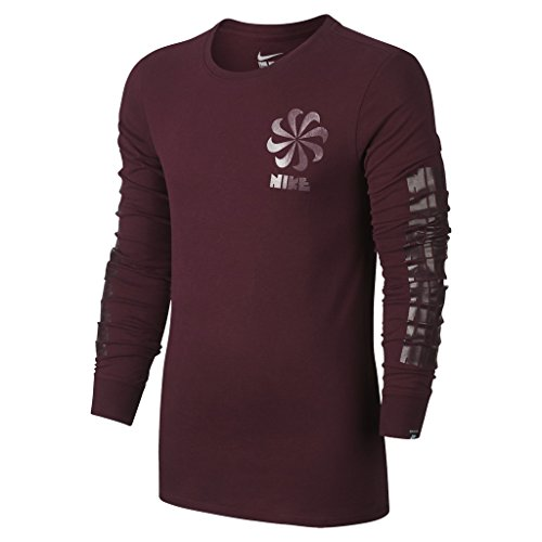 Nike Tee-Legacy Ls - T-Shirt Herren, Farbe Weinrot, Größe S