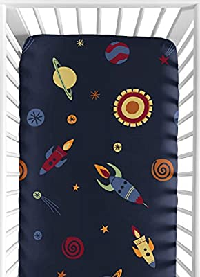 Fitted Crib Sheet for Space Galaxy Baby/Toddler Bedding Set Collection - Galactic Print