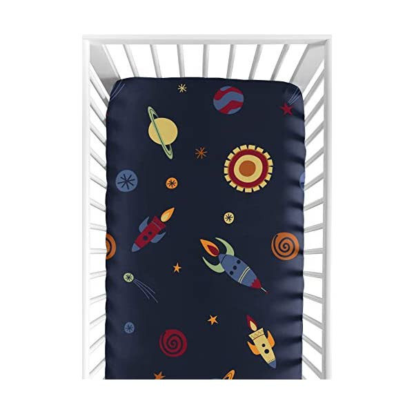Fitted Crib Sheet for Space Galaxy Baby/Toddler Bedding Set Collection – Galactic Print