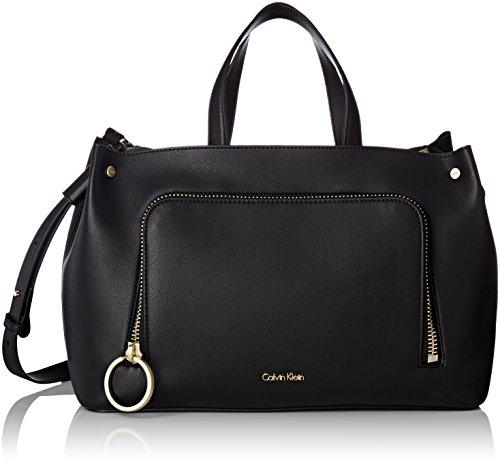 Calvin Klein dames Natasha Tote handtas, zwart (zwart)
