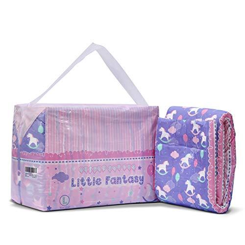 LittleForBig gedruckt Erwachsenen Slip Windeln Erwachsene Baby-Windel-Liebhaber ABDL 10 Stück-kleine Fantasie L