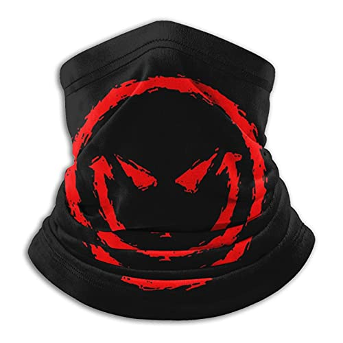 Bufanda caliente roja de la cara del ácido de Smiley, bufanda a prueba de viento y a prueba de polvo para la