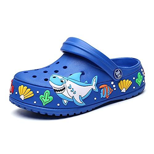 Pattrily Kids Clogs Fashion Children Garden Shoes Boys Cartoon Summer Slippers Kids Garden Children Clogs Boys Shoes A778 (30,A778 blue)