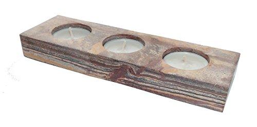 Speckstein 3er Teelichthalter Kerzenhalter Speck Stein
