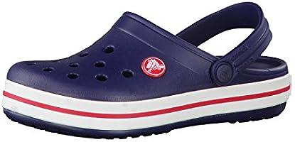 Crocs Kids' Crocband Clog, Navy/Red, 5 Children